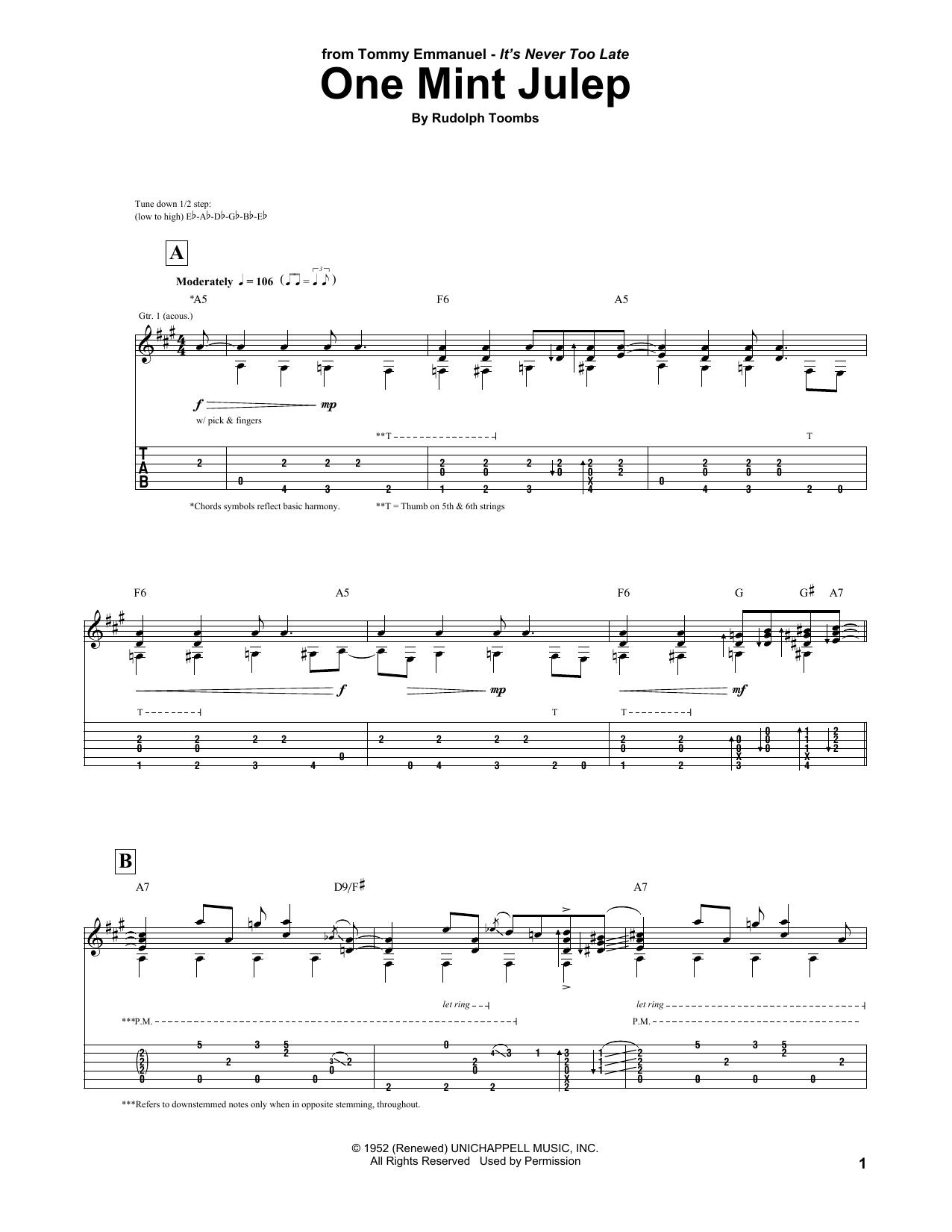One Mint Julep (Guitar Tab)