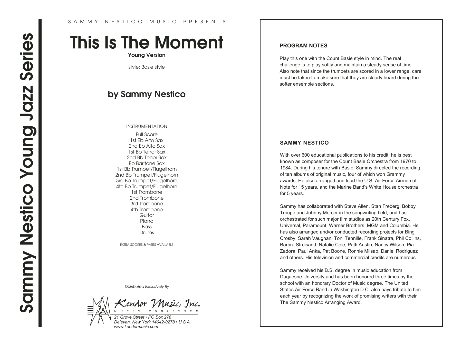 This Is The Moment (Professional Edition) (COMPLETE) sheet music for jazz band by Sammy Nestico. Score Image Preview.