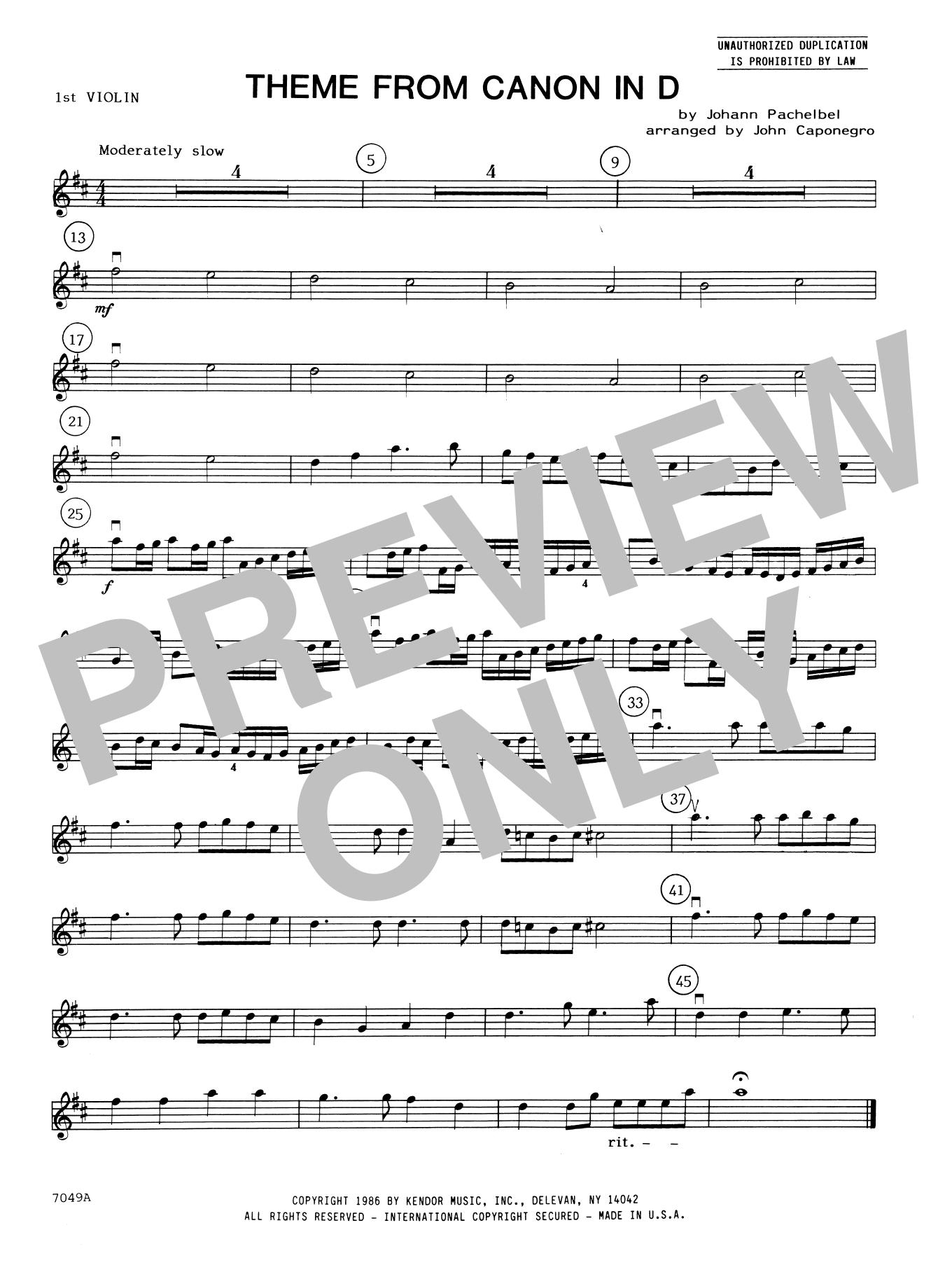 Canon In D Violin Pdf