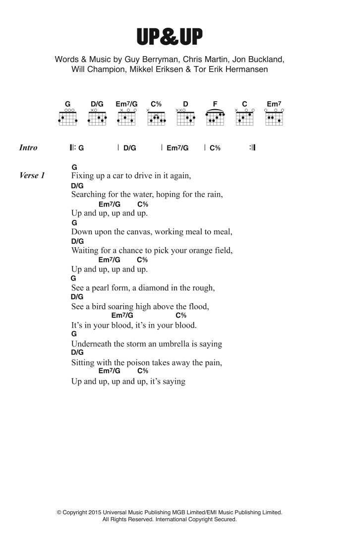 Up and Up Sheet Music