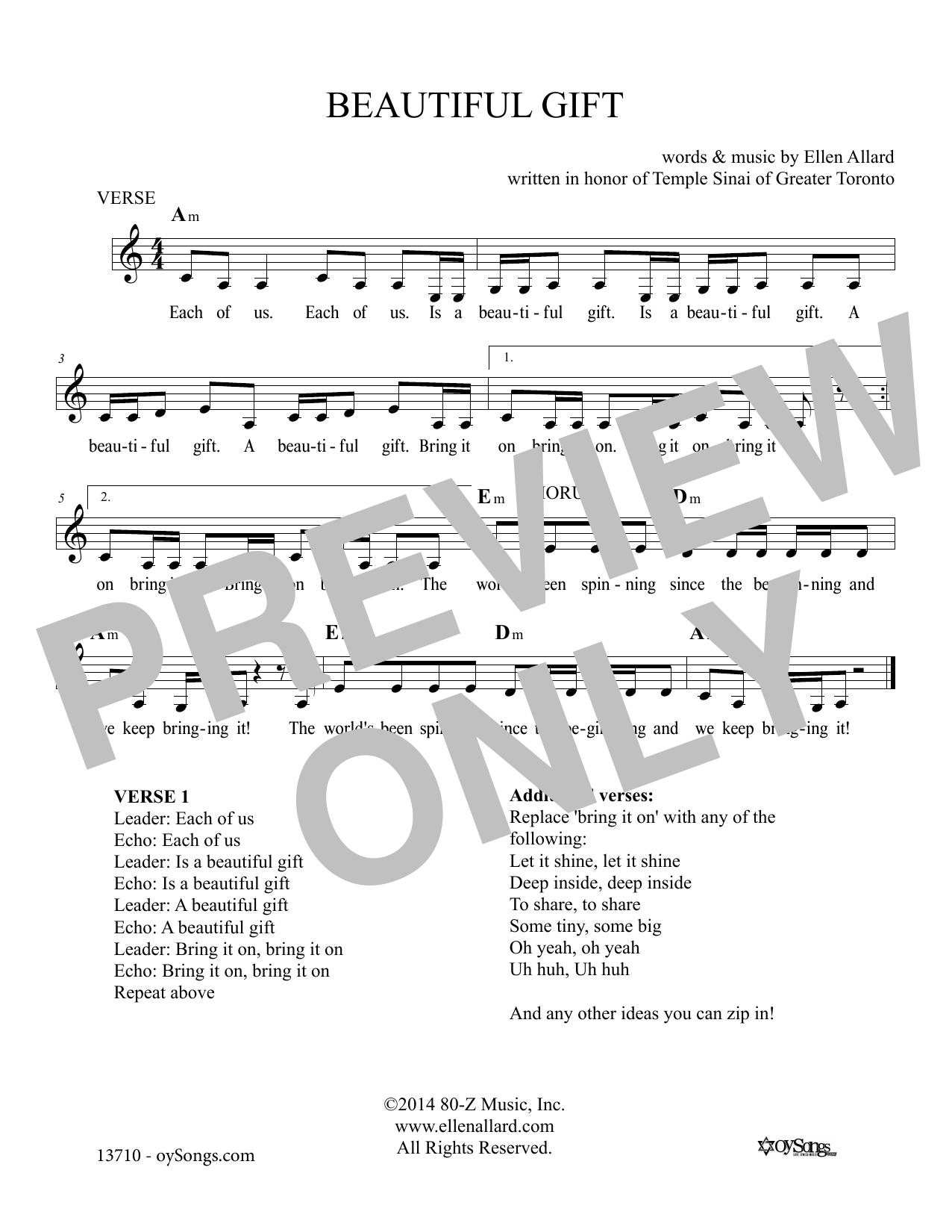 Beautiful Gift Sheet Music