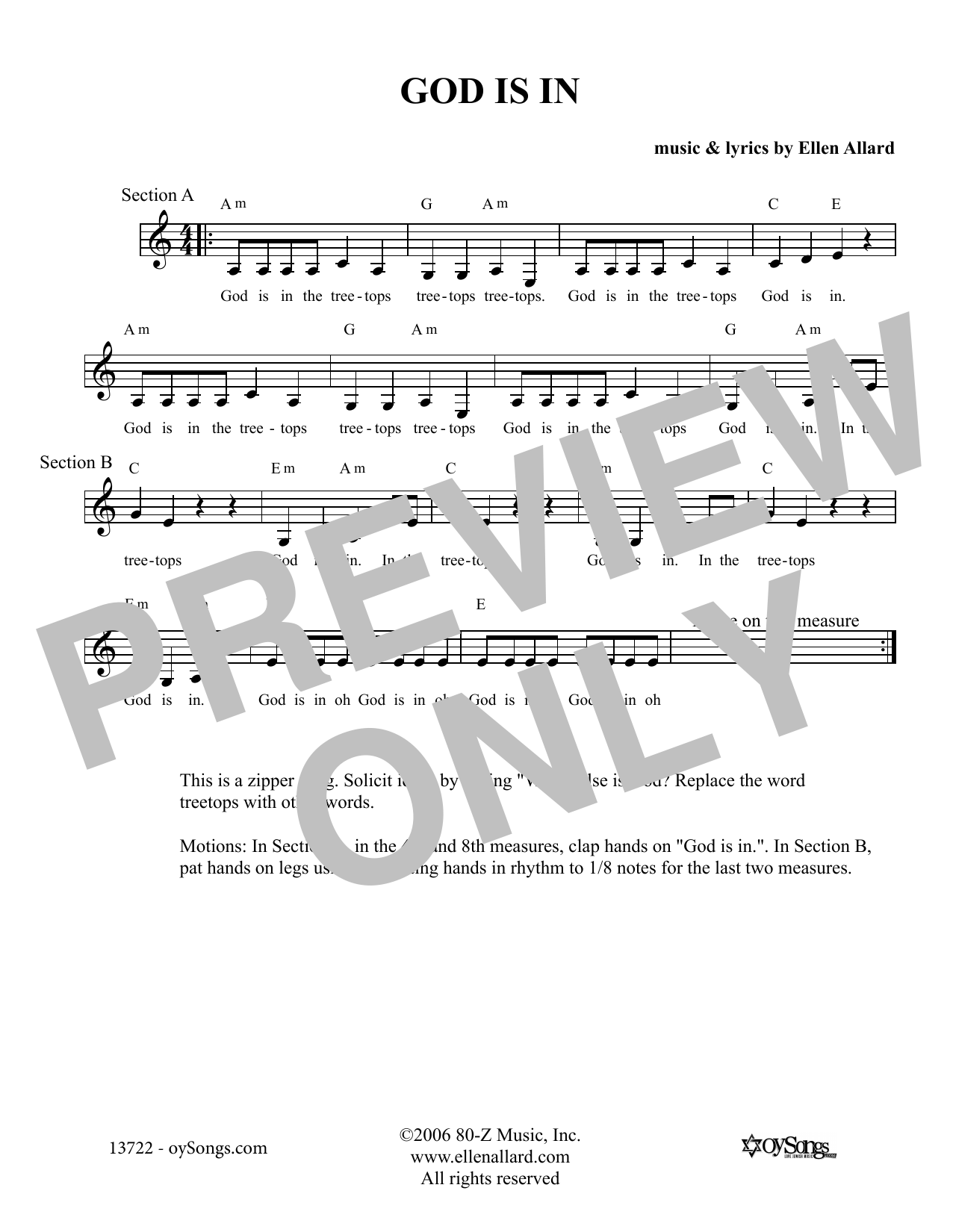 God Is In (Lead Sheet / Fake Book)