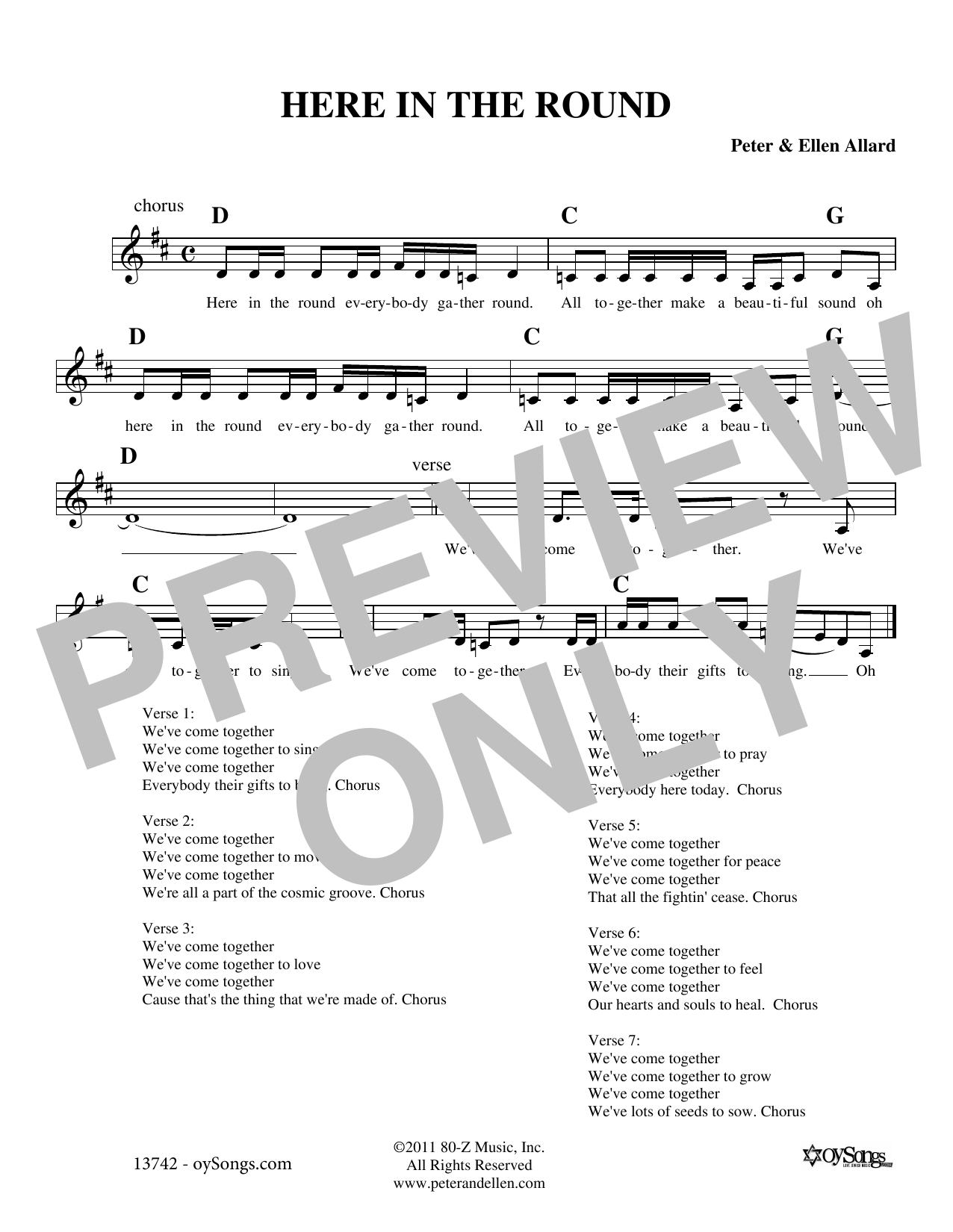 Here In The Round Sheet Music