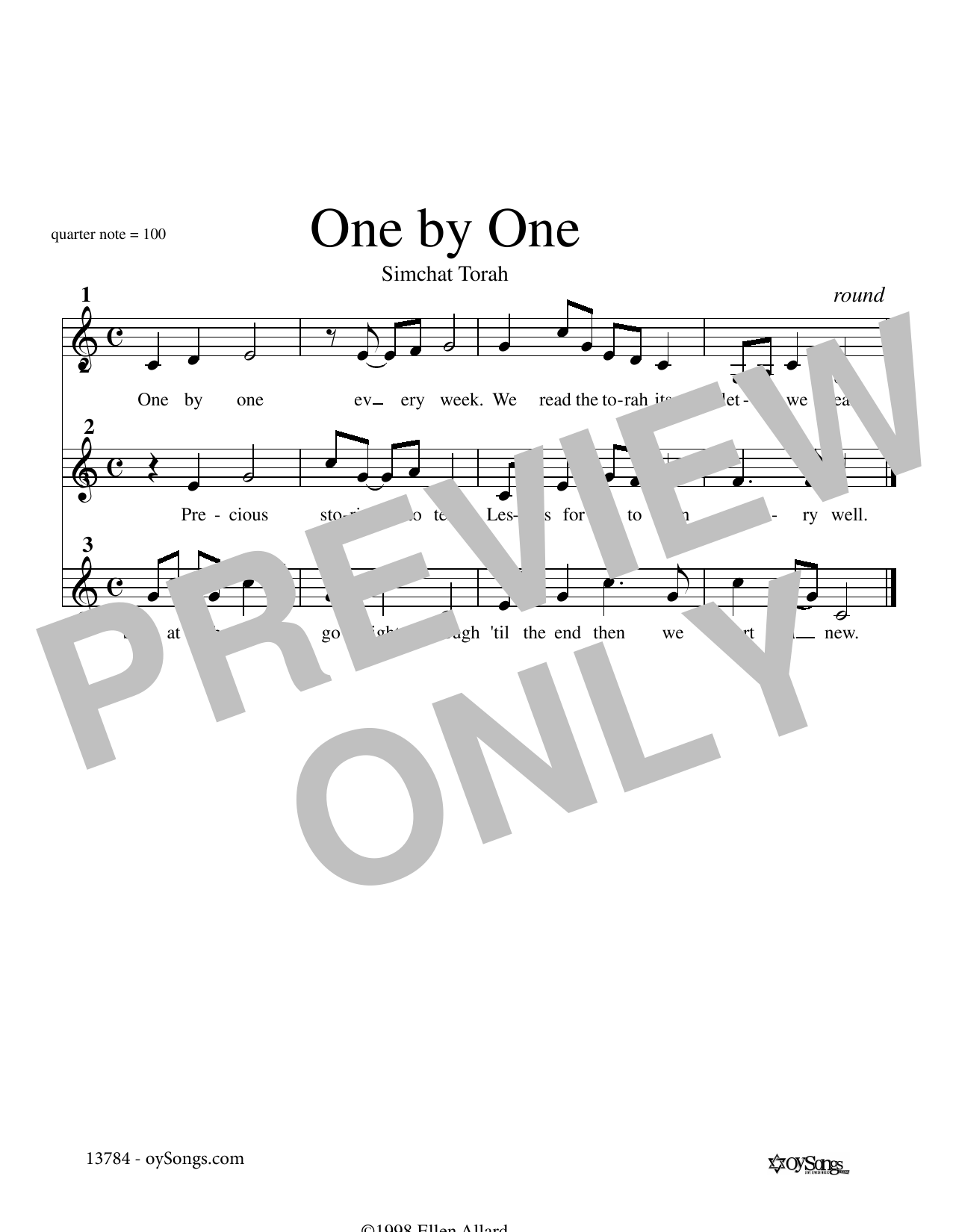 One by One (Lead Sheet / Fake Book)