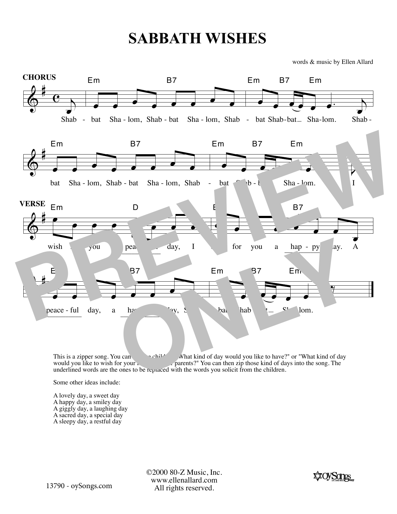 Sabbath Wishes Sheet Music