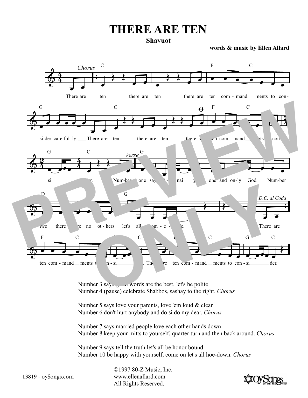 There Are Ten (Lead Sheet / Fake Book)