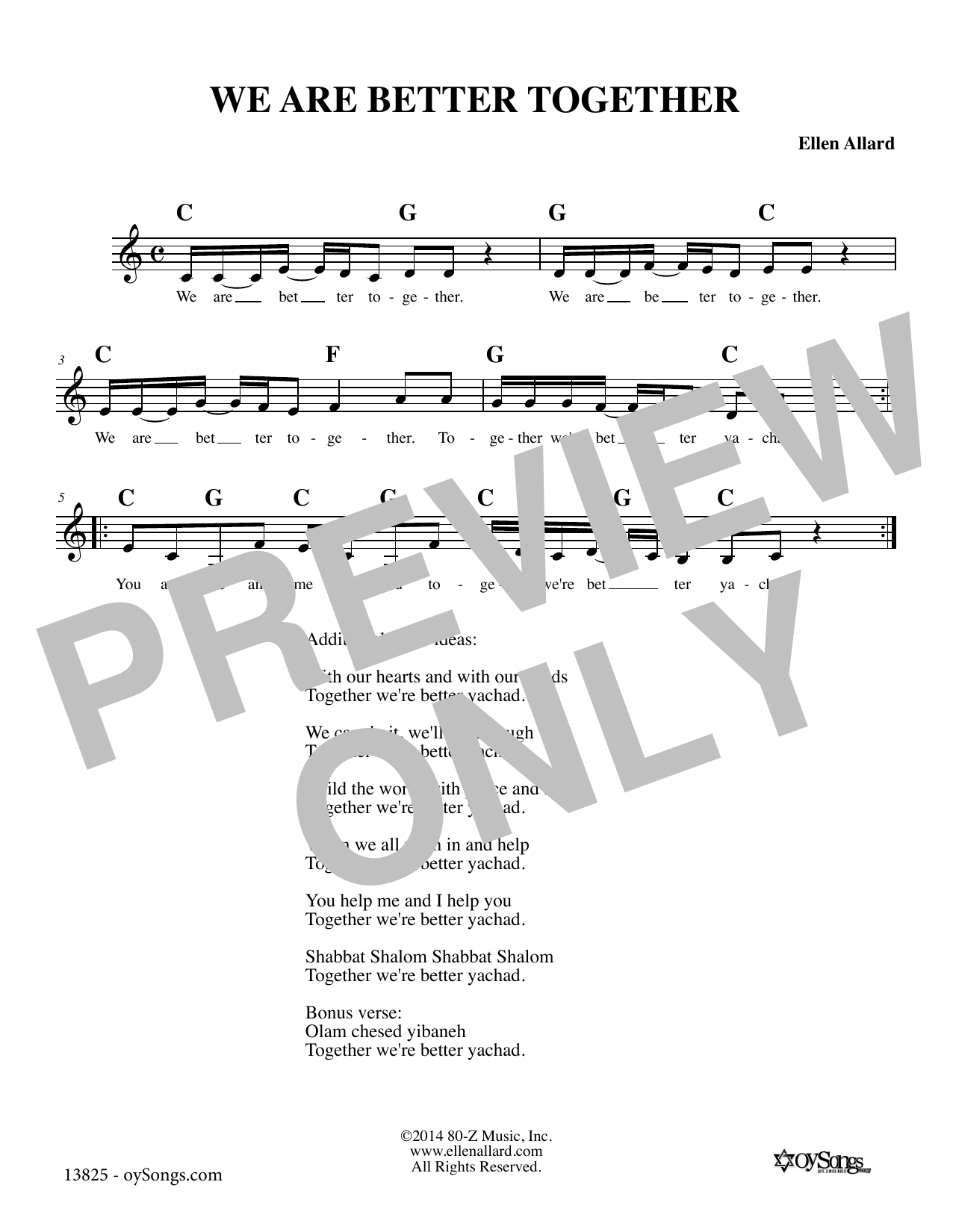 We Are Better Together Sheet Music