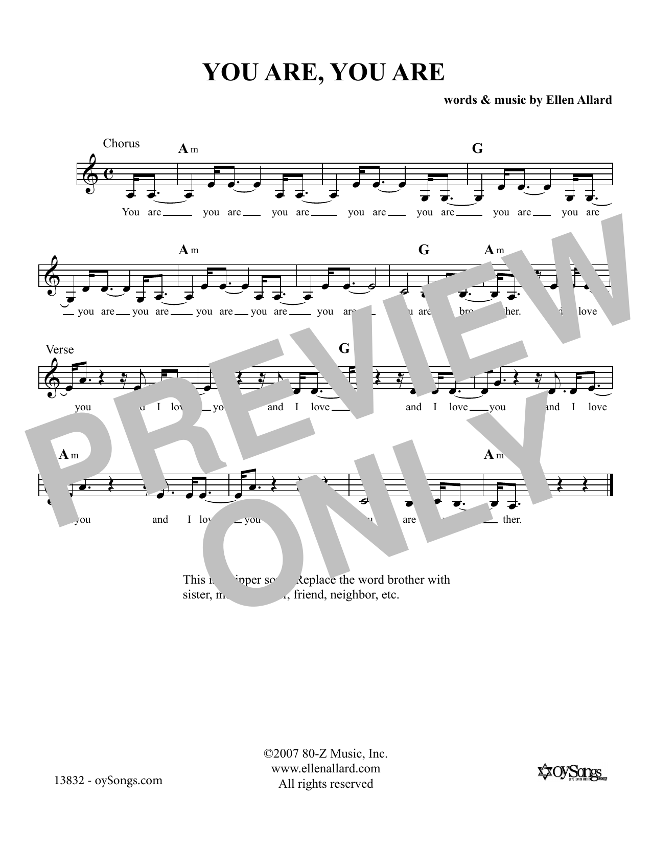 You Are You Are Sheet Music
