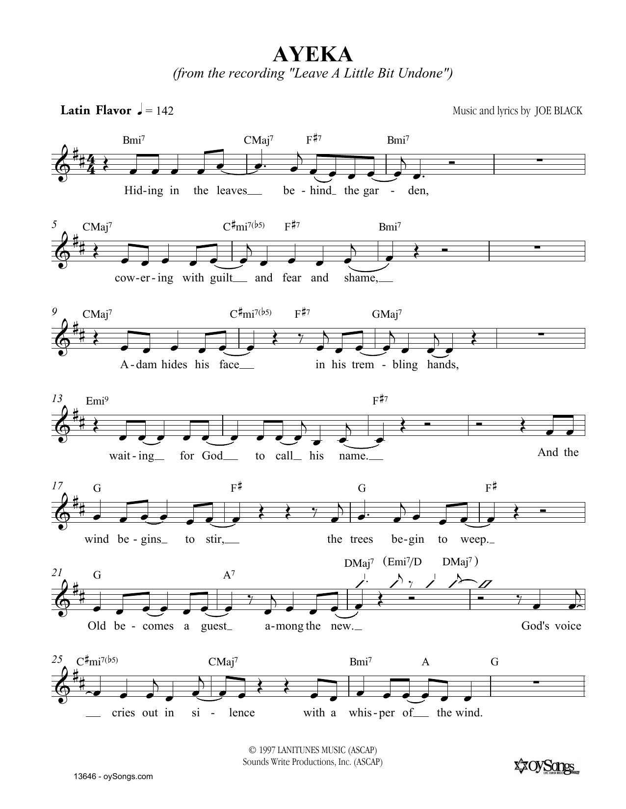 Ayeka Sheet Music