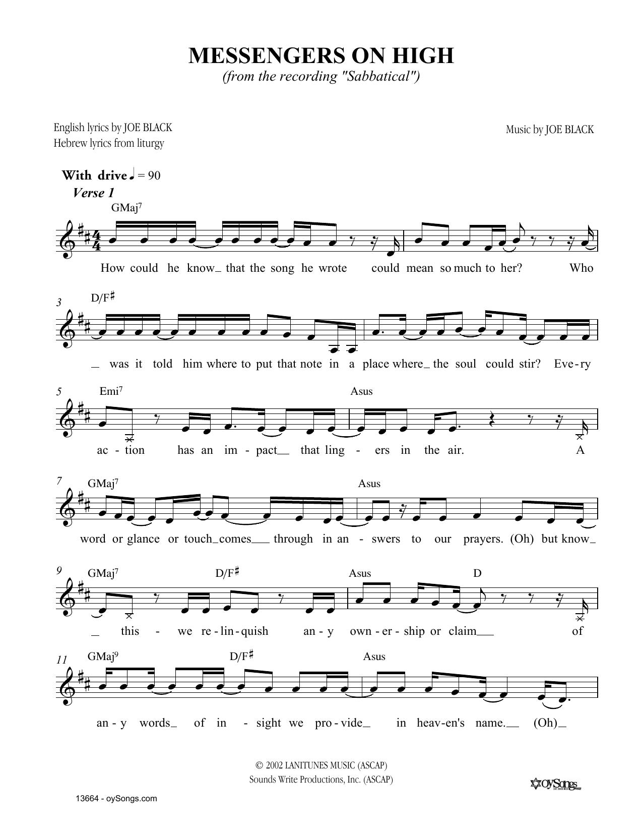 Messengers on High Sheet Music