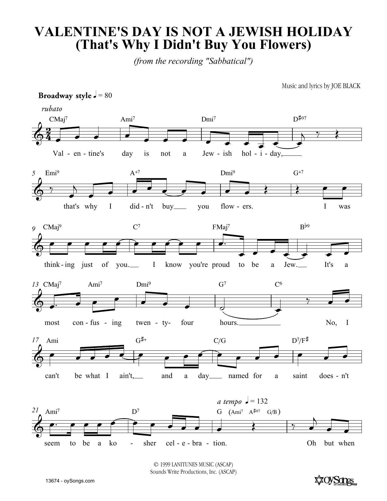Valentines day is not a jewish holiday chords by joe black joe black valentines day is not a jewish holiday melody line lyrics chords hexwebz Image collections