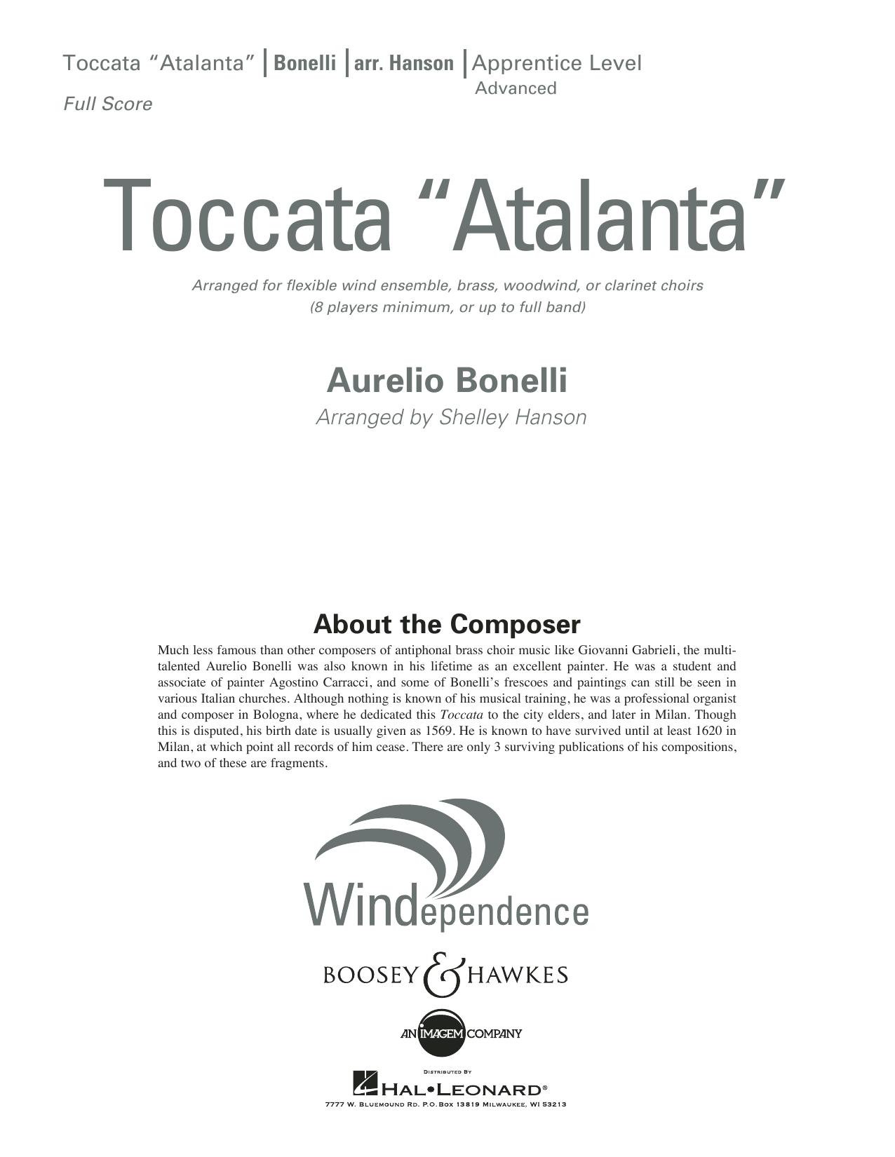 """Toccata (""""Atalanta"""") - Conductor Score (Full Score) (Concert Band)"""