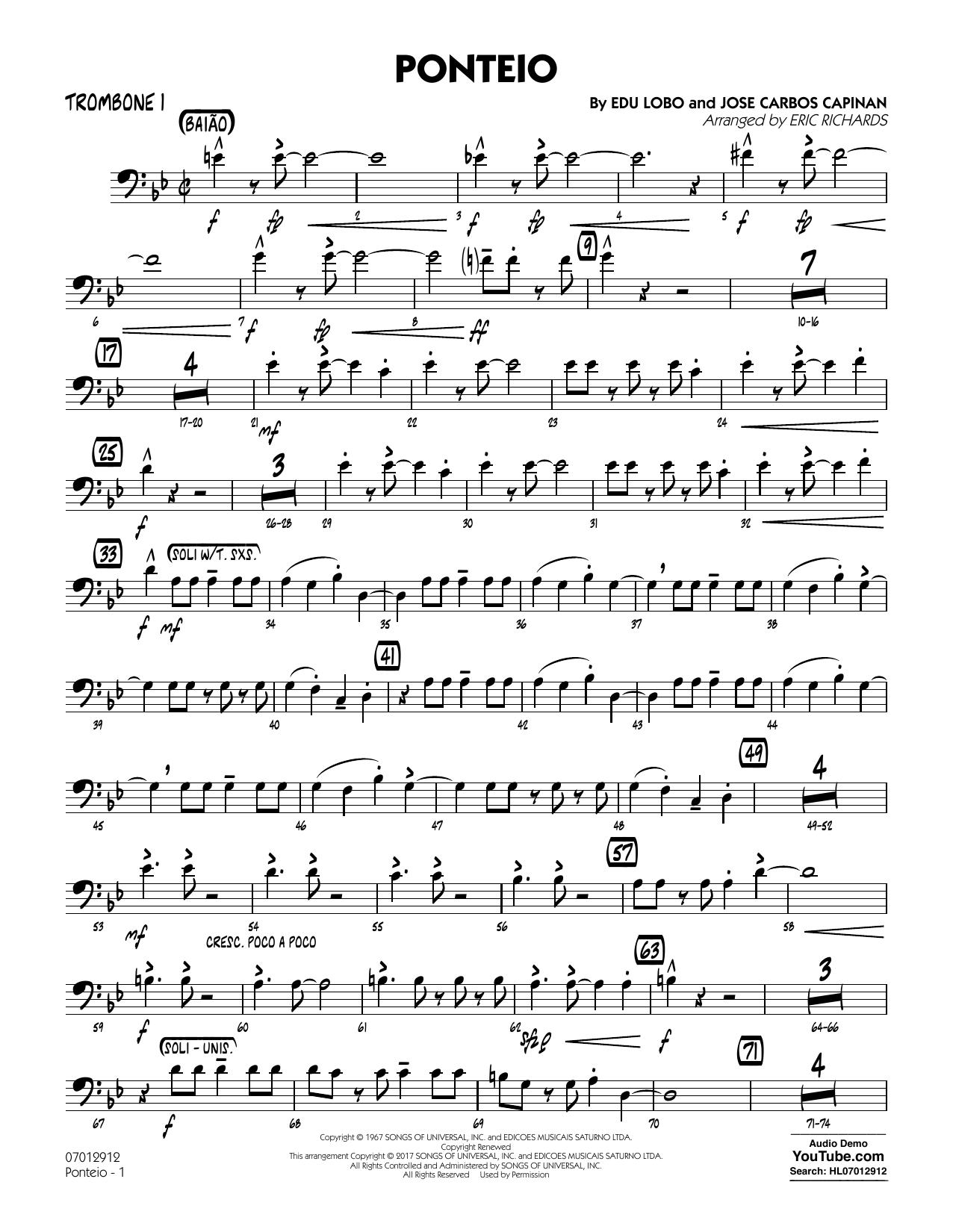 Ponteio - Trombone 1 (Jazz Ensemble)