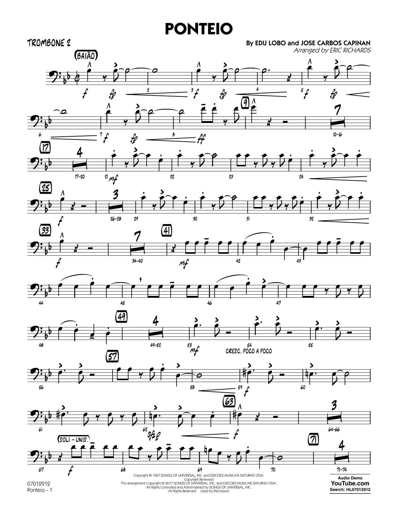 Ponteio - Trombone 2 (Jazz Ensemble)