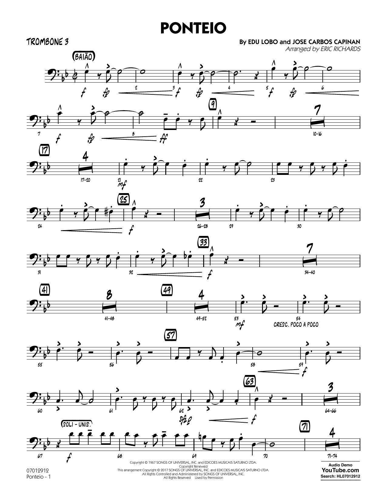 Ponteio - Trombone 3 (Jazz Ensemble)