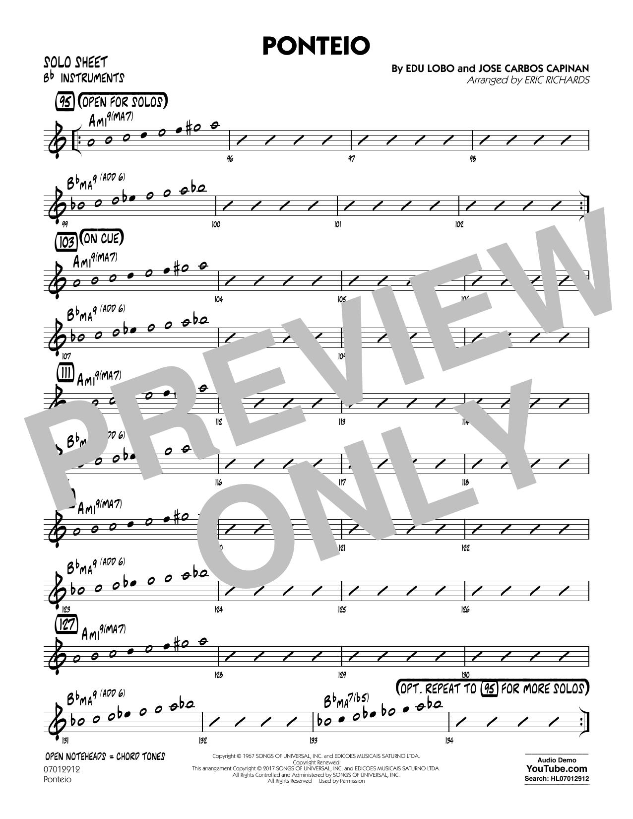 Ponteio - Bb Solo Sheet (Jazz Ensemble)