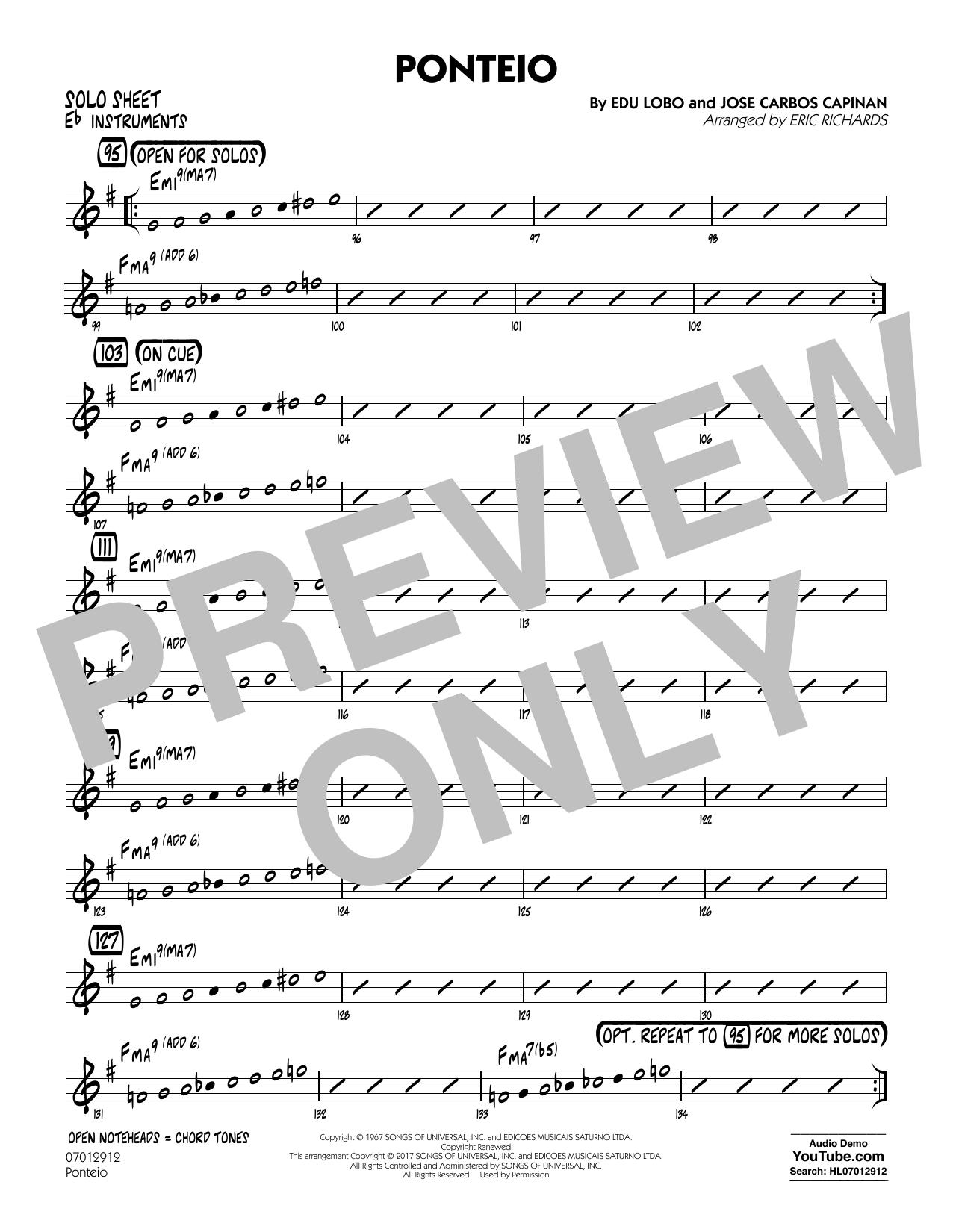 Ponteio - Eb Solo Sheet (Jazz Ensemble)