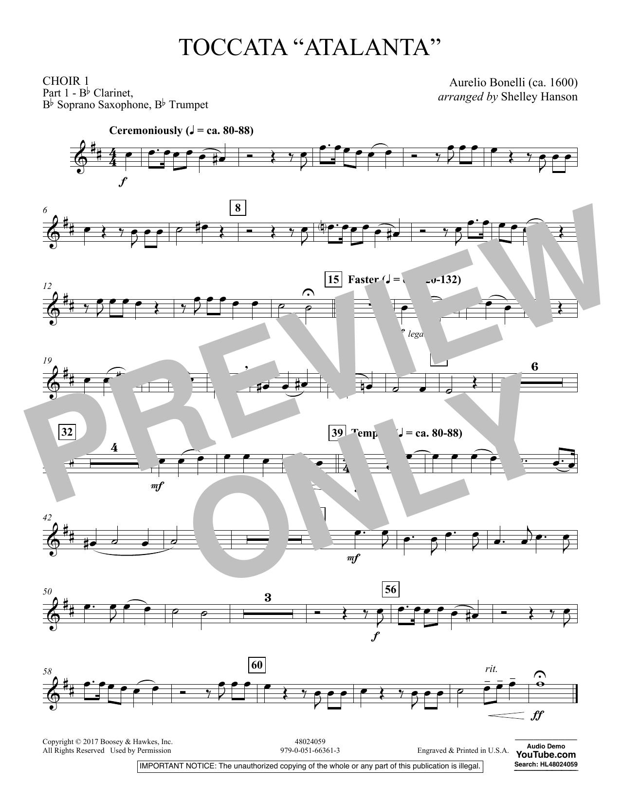 "Toccata (""Atalanta"") - Choir 1-Pt 1-Clar, Sop Sx, Tpt (Concert Band)"