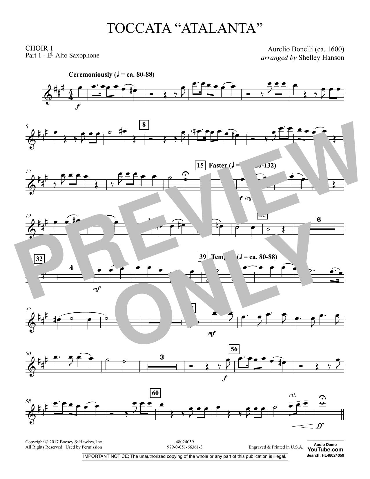 """Toccata (""""Atalanta"""") - Choir 1-Pt 1-Alto Saxophone (Concert Band)"""