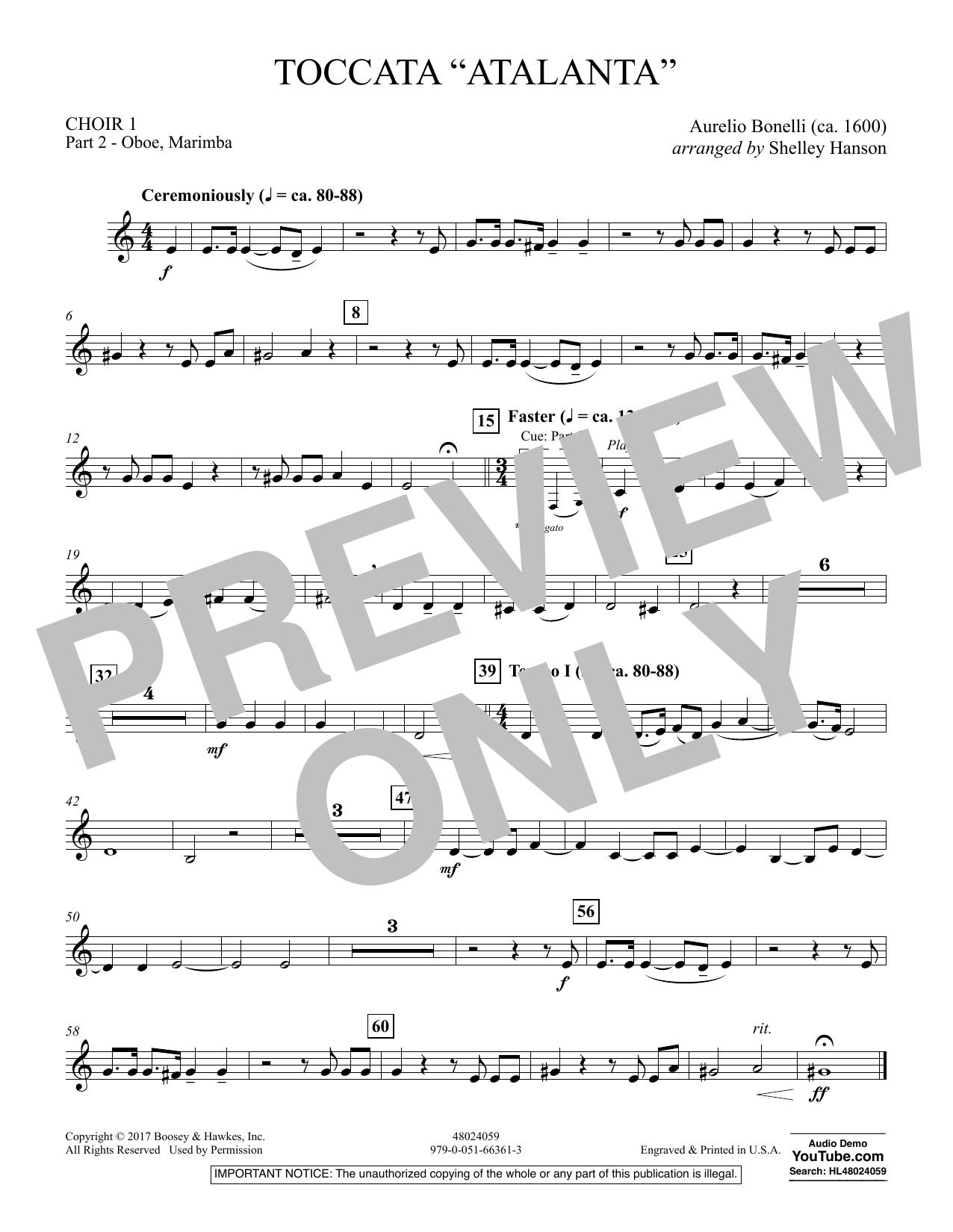 "Toccata (""Atalanta"") - Choir 1-Pt 2-Oboe, Marimba (Concert Band)"