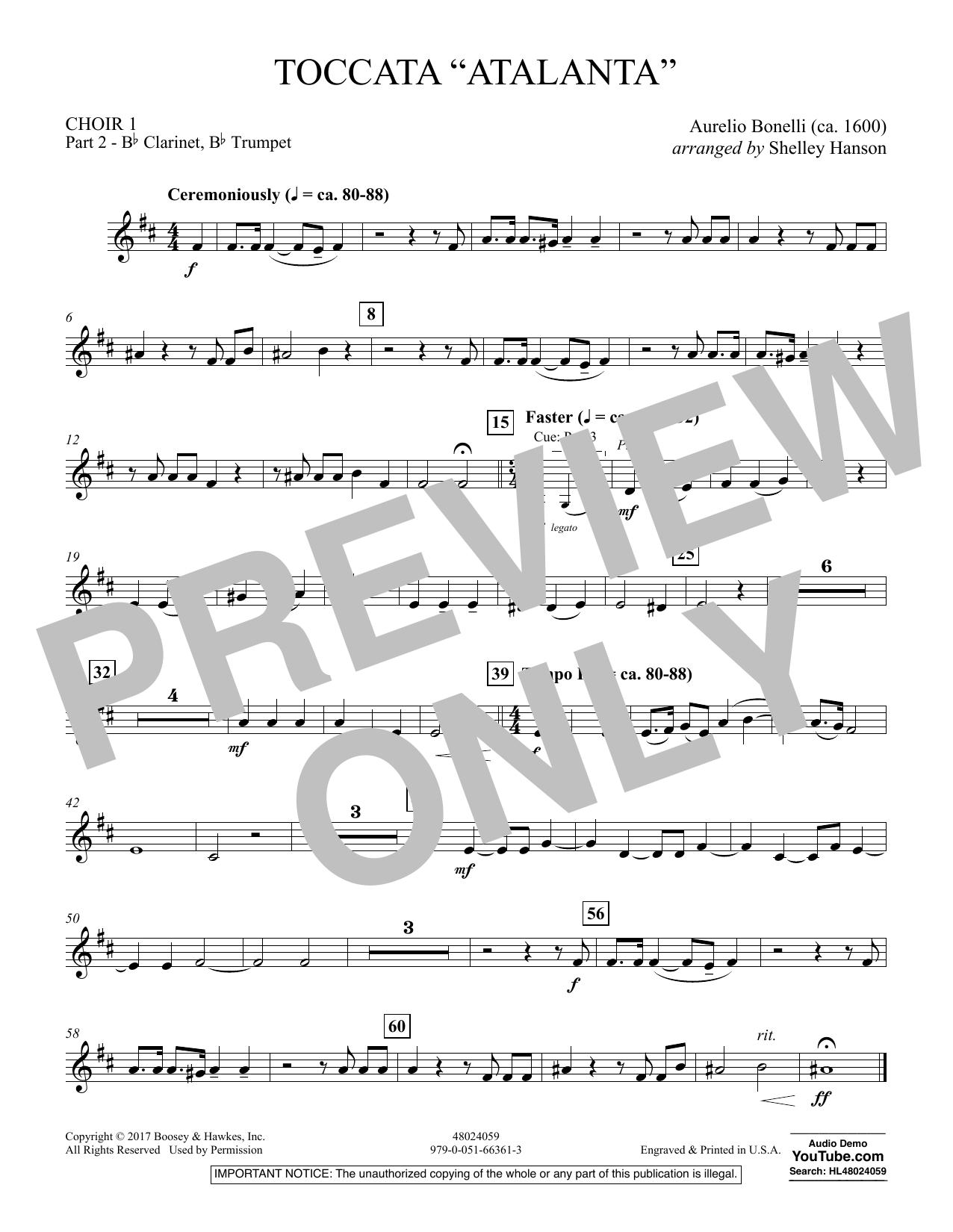 "Toccata (""Atalanta"") - Choir 1-Pt 2-Clarinet, Trumpet (Concert Band)"