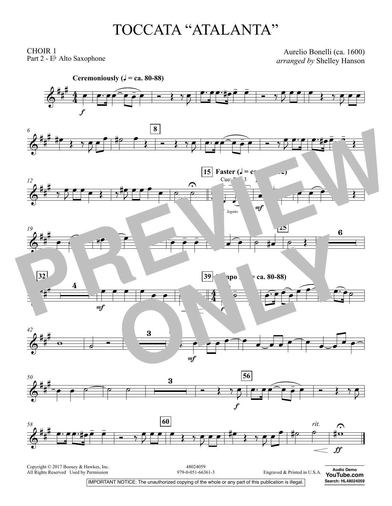 """Toccata (""""Atalanta"""") - Choir 1-Pt 2-Alto Saxophone (Concert Band)"""