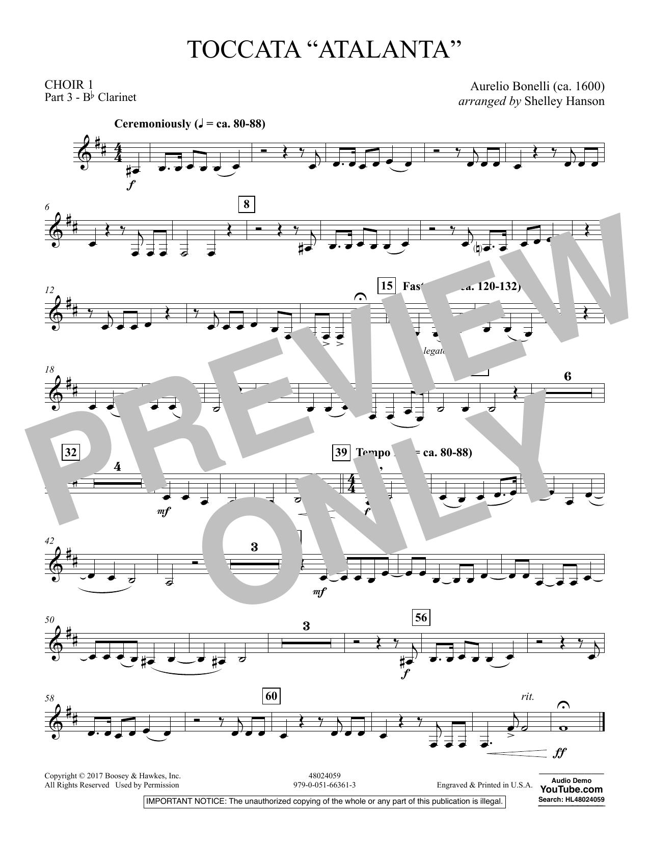 """Toccata (""""Atalanta"""") - Choir 1-Pt 3-Clarinet (Concert Band)"""