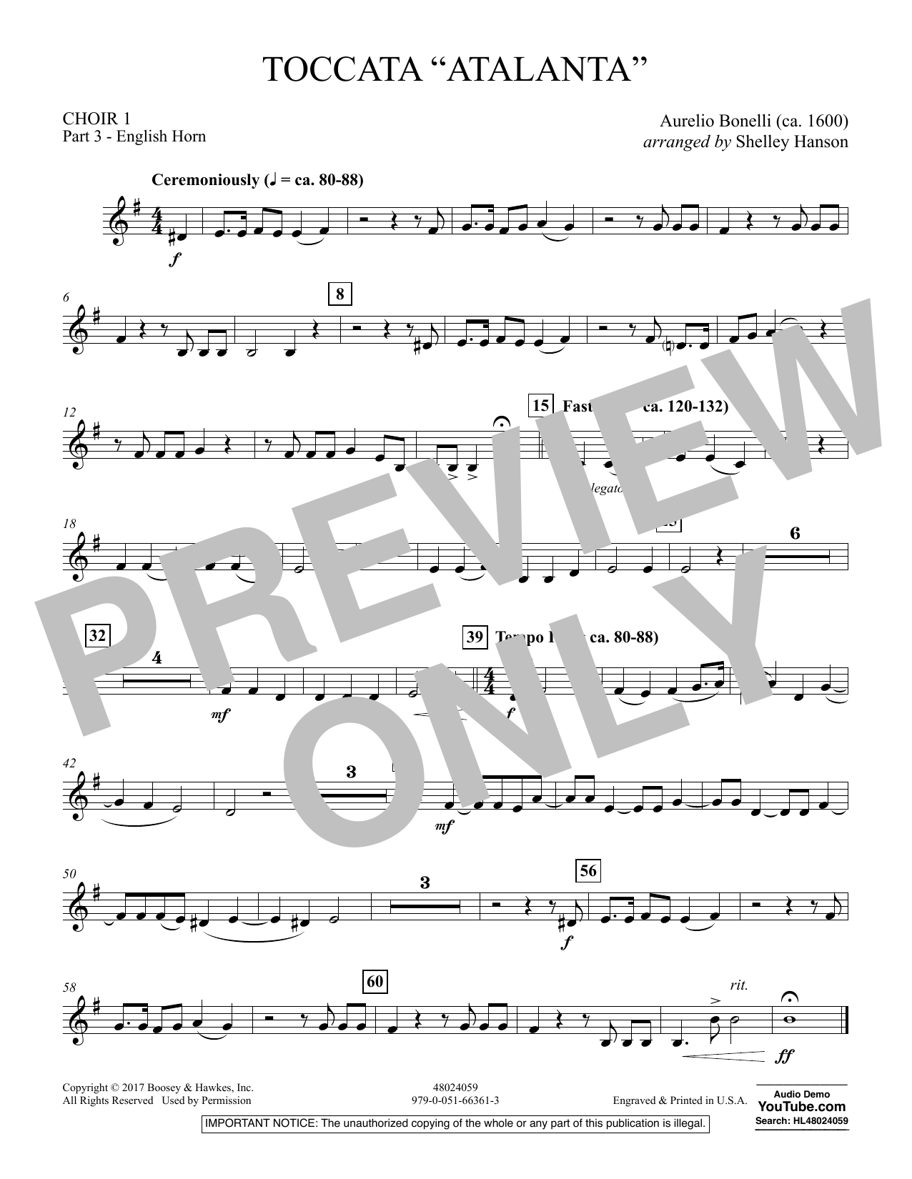 "Toccata (""Atalanta"") - Choir 1-Pt 3-English Horn (Concert Band)"