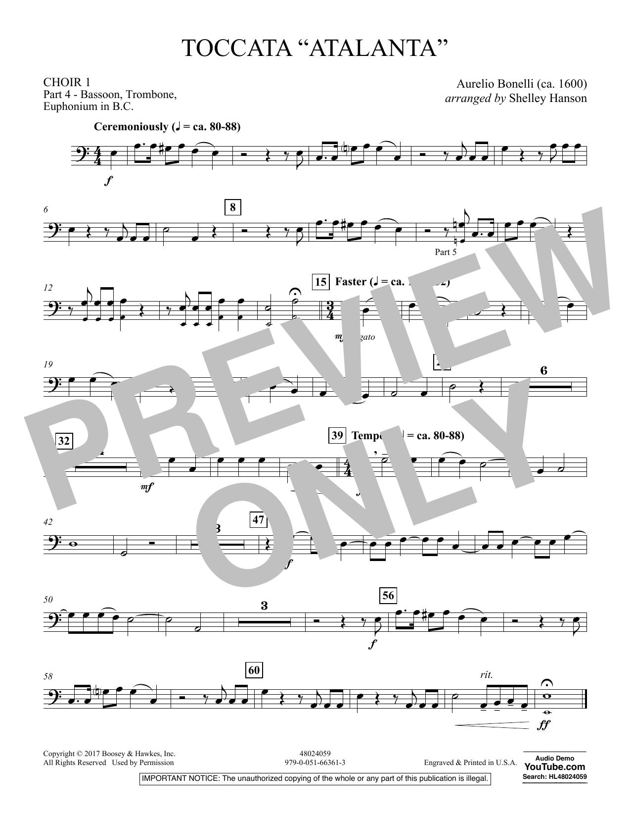 "Toccata (""Atalanta"") - Choir 1-Pt 4-Bsn, Tbn, Euph BC (Concert Band)"
