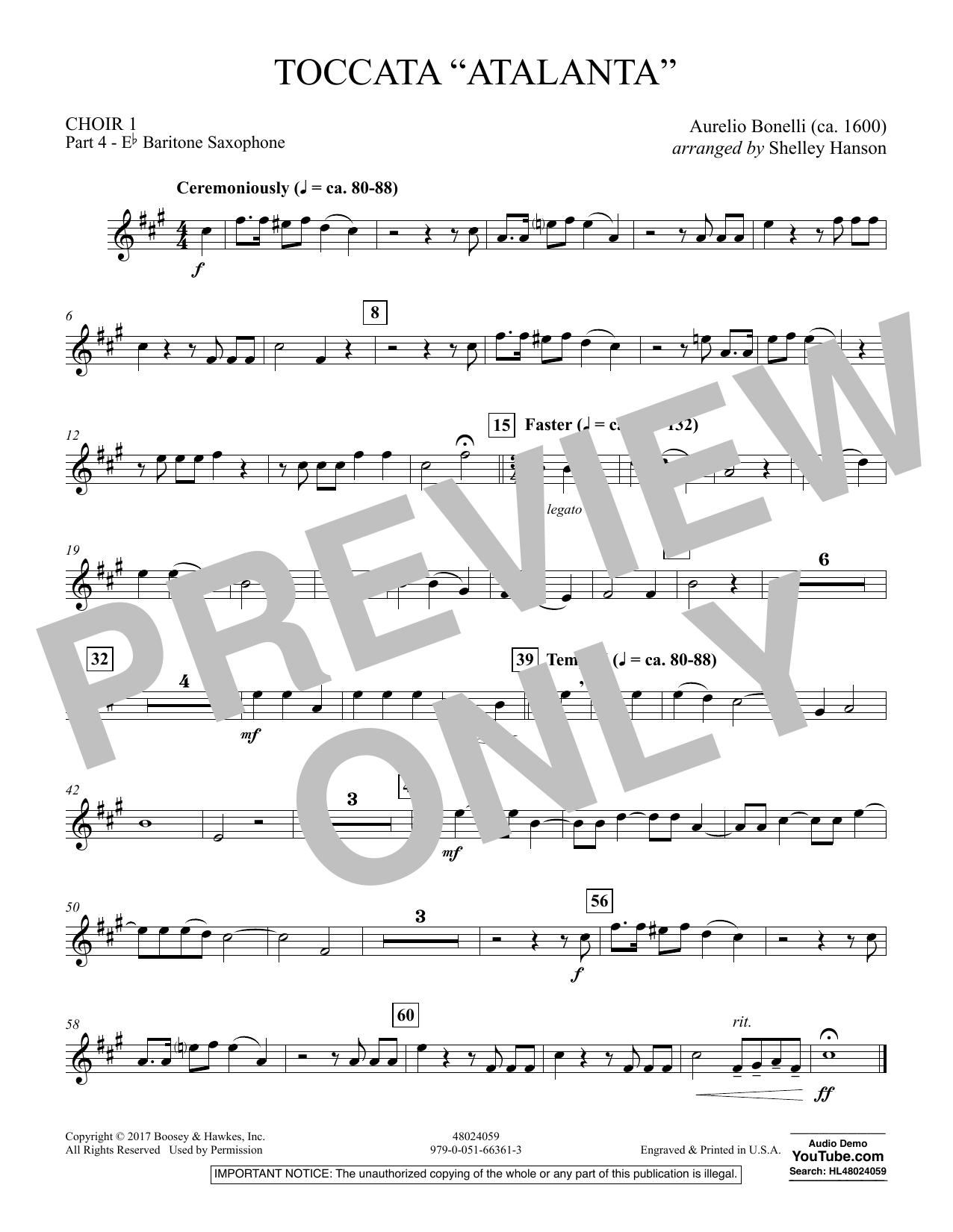 "Toccata (""Atalanta"") - Choir 1-Pt 4-Baritone Sax (Concert Band)"