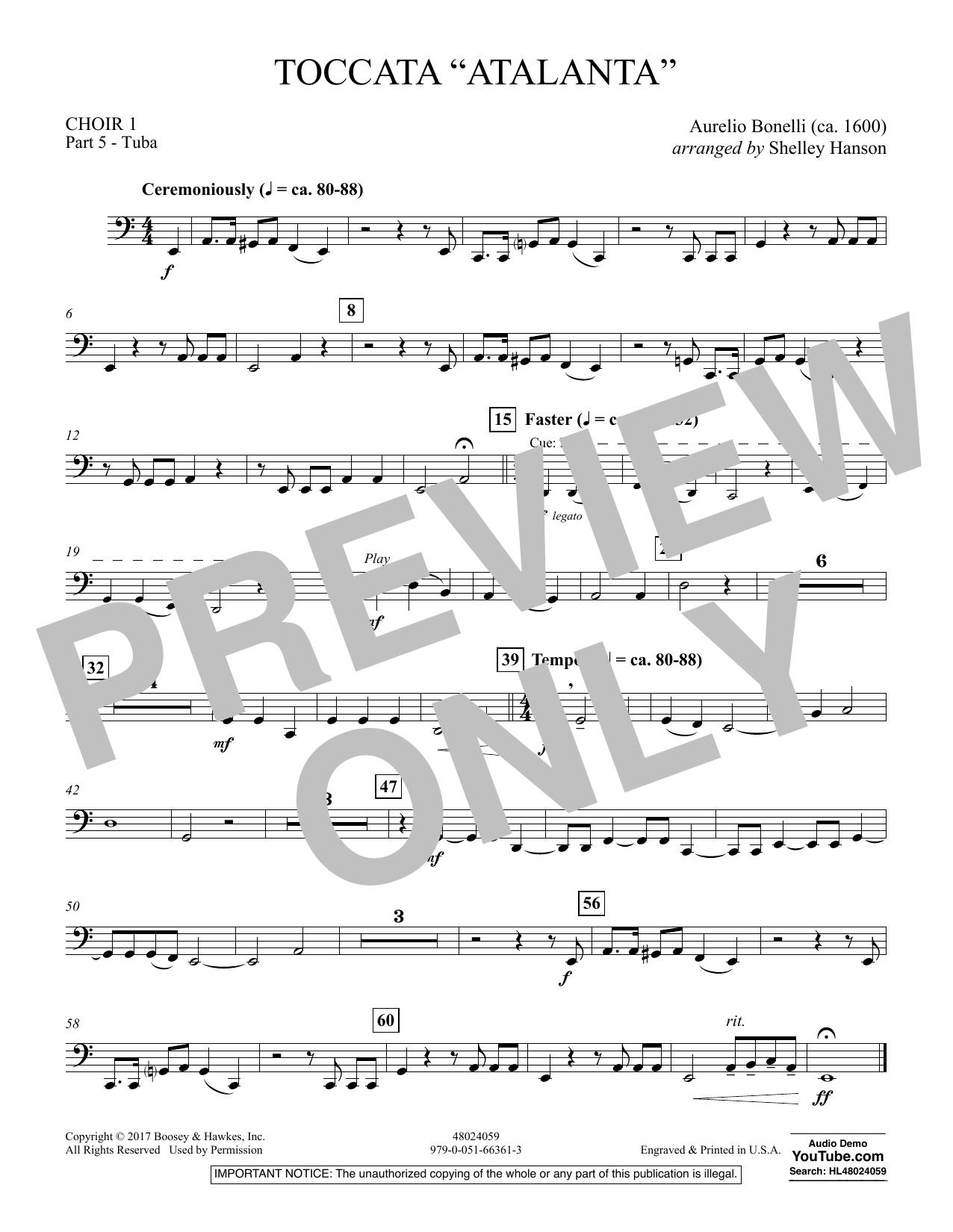 "Toccata (""Atalanta"") - Choir 1-Pt 5-Tuba (Concert Band)"