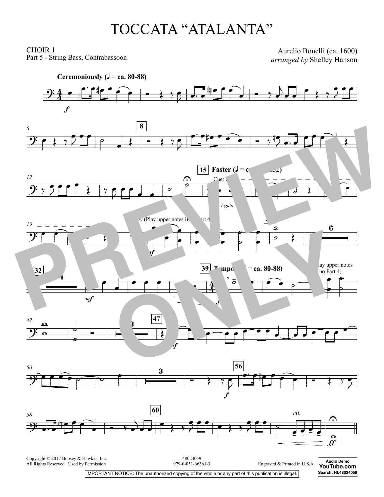 "Toccata (""Atalanta"") - Choir 1-Pt 5-St Bass, Cbsn (Concert Band)"