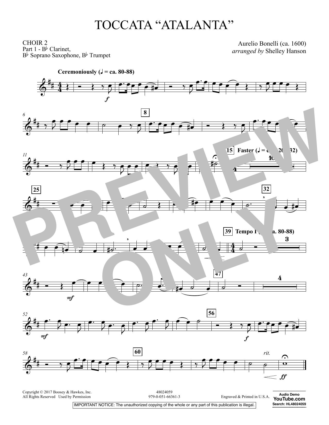 "Toccata (""Atalanta"") - Choir 2-Pt 1-Clar,Sop Sx,Tpt (Concert Band)"
