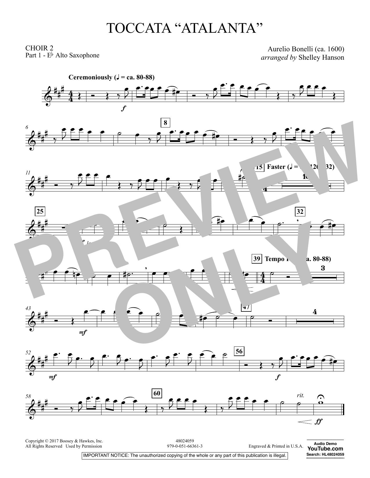 """Toccata (""""Atalanta"""") - Choir 2-Pt 1-Alto Saxophone (Concert Band)"""