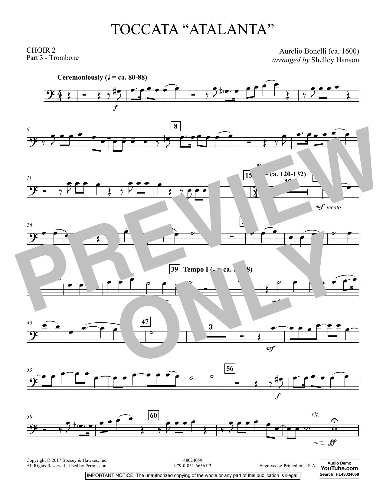 "Toccata (""Atalanta"") - Choir 2-Pt 3-Trombone (Concert Band)"