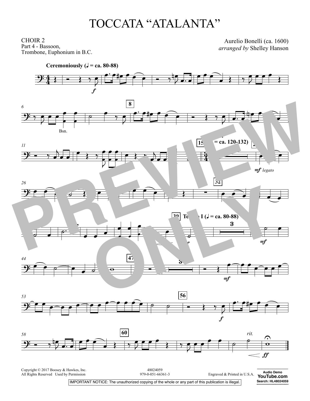 "Toccata (""Atalanta"") - Choir 2-Pt 4-Bsn, Tbn, Euph BC (Concert Band)"