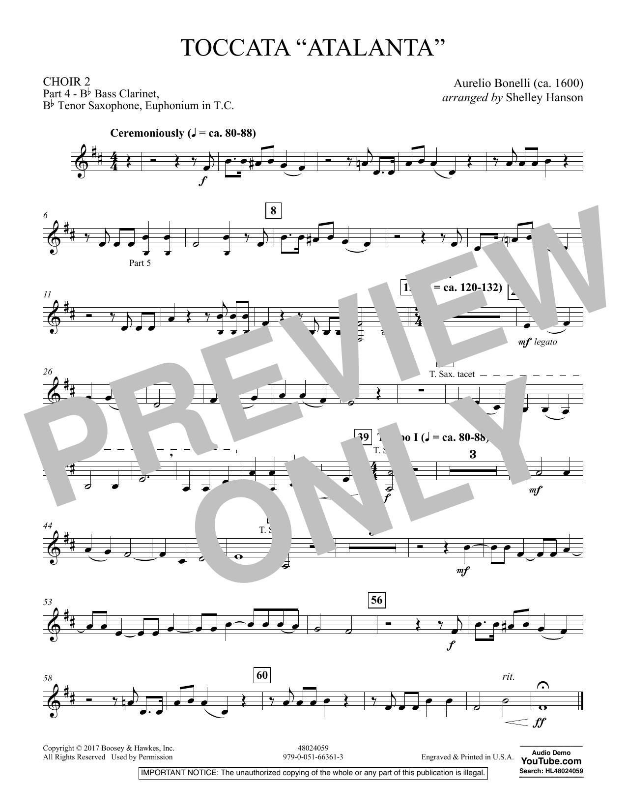 "Toccata (""Atalanta"") - Choir 2-Pt 4-B Cl,T Sx,Euph TC (Concert Band)"