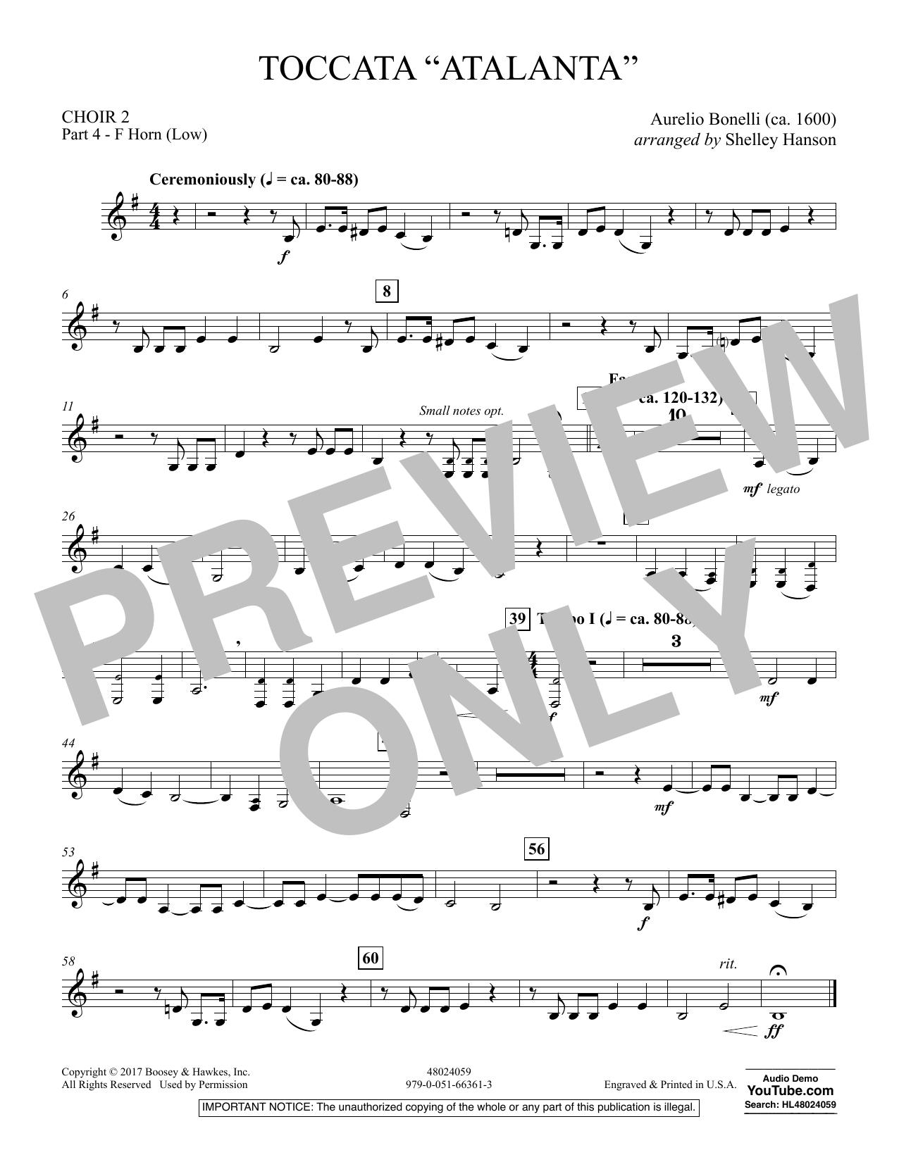 "Toccata (""Atalanta"") - Choir 2-Pt 4-F Horn (Low) (Concert Band)"