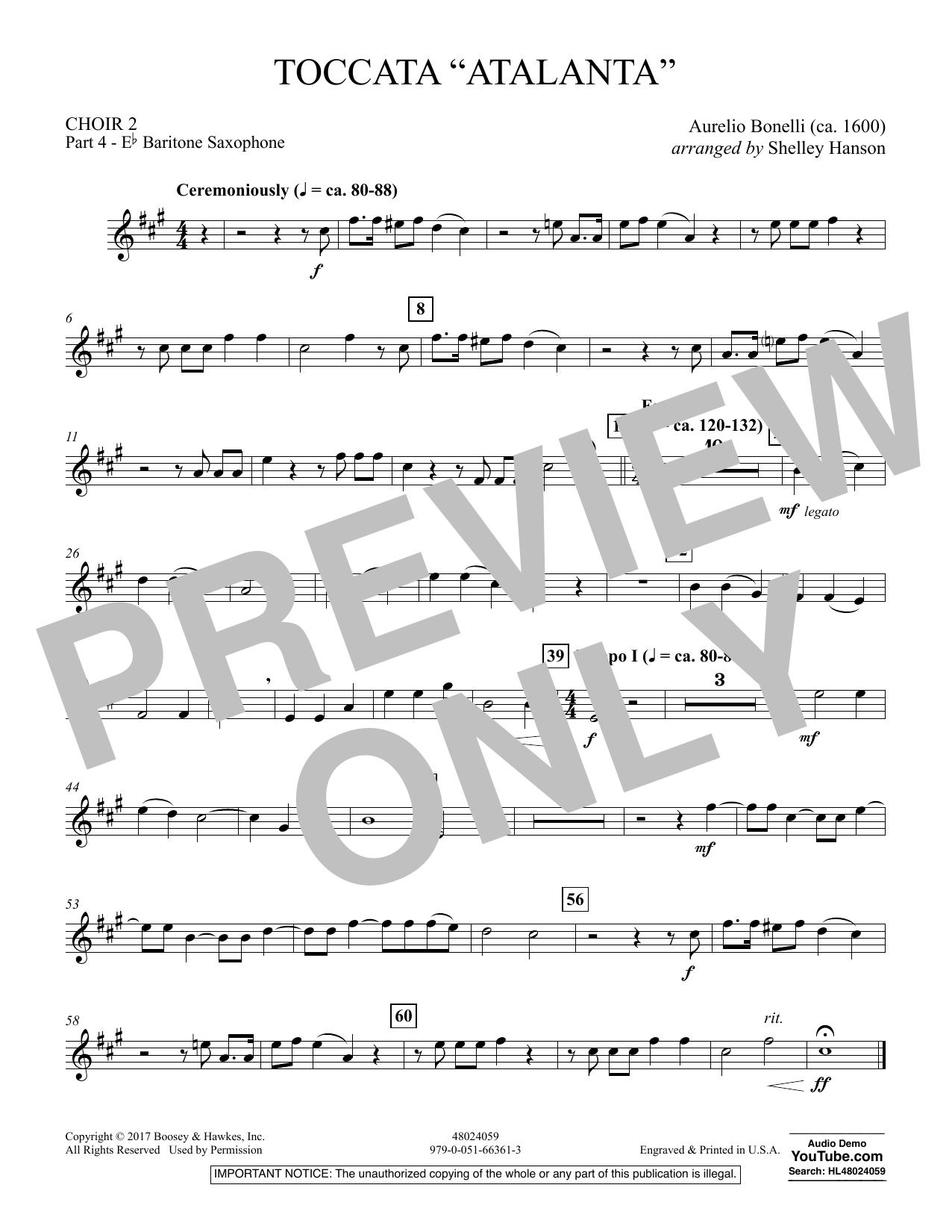 """Toccata (""""Atalanta"""") - Choir 2-Pt 4-Bari. Saxophone (Concert Band)"""