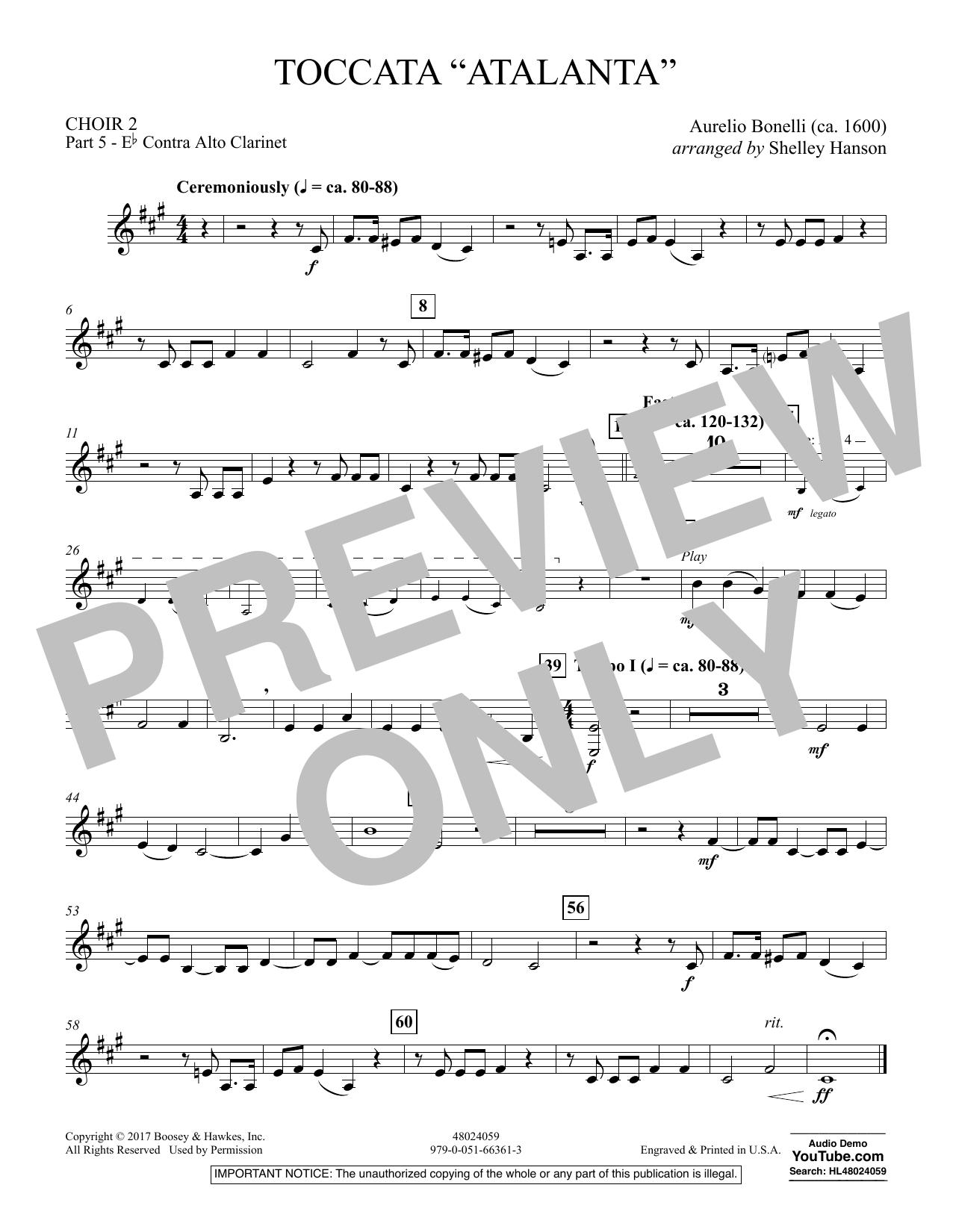 """Toccata (""""Atalanta"""") - Choir 2-Pt 5-Eb Contra A Clar (Concert Band)"""