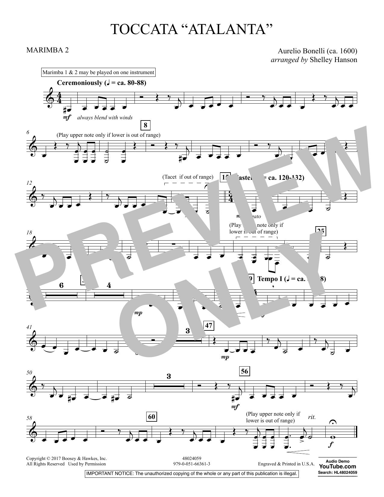 """Toccata (""""Atalanta"""") - Marimba 2 (Concert Band)"""