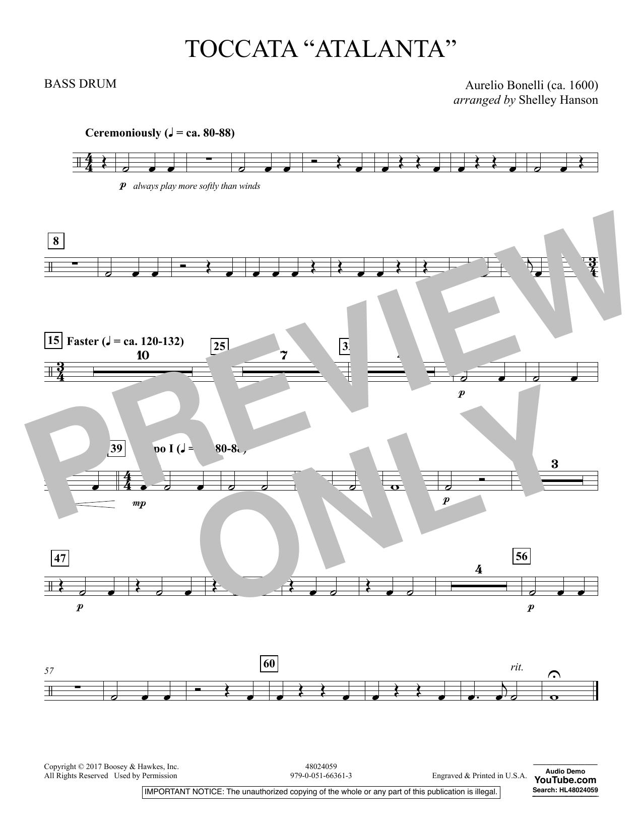 """Toccata (""""Atalanta"""") - Bass Drum (Concert Band)"""