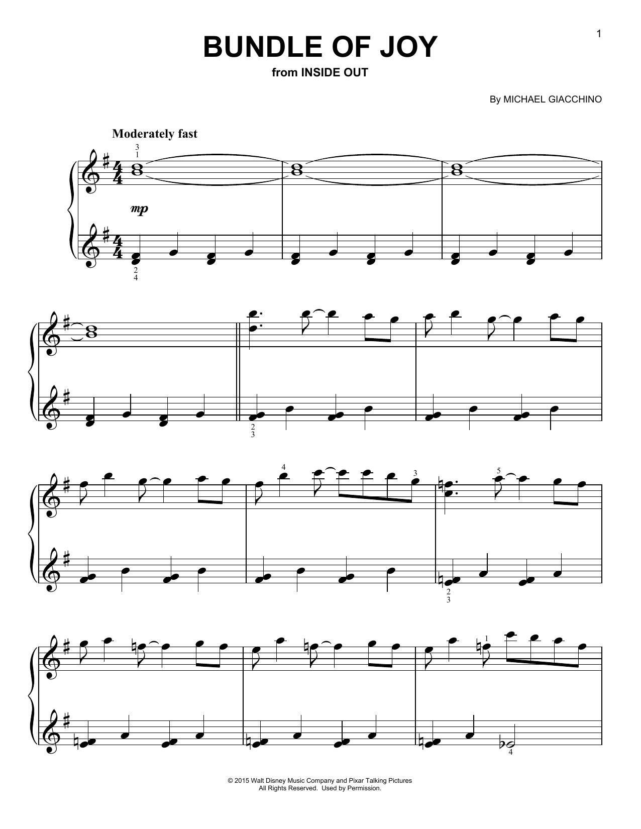 Bundle Of Joy (Easy Piano)