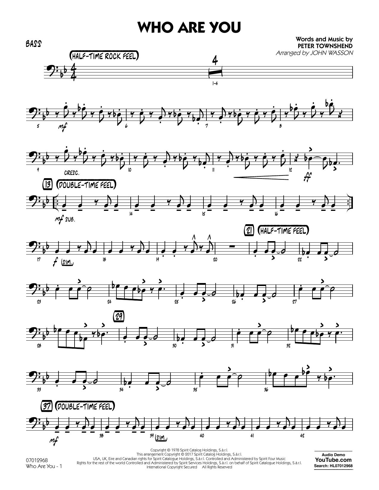 Who Are You - Bass (Jazz Ensemble)