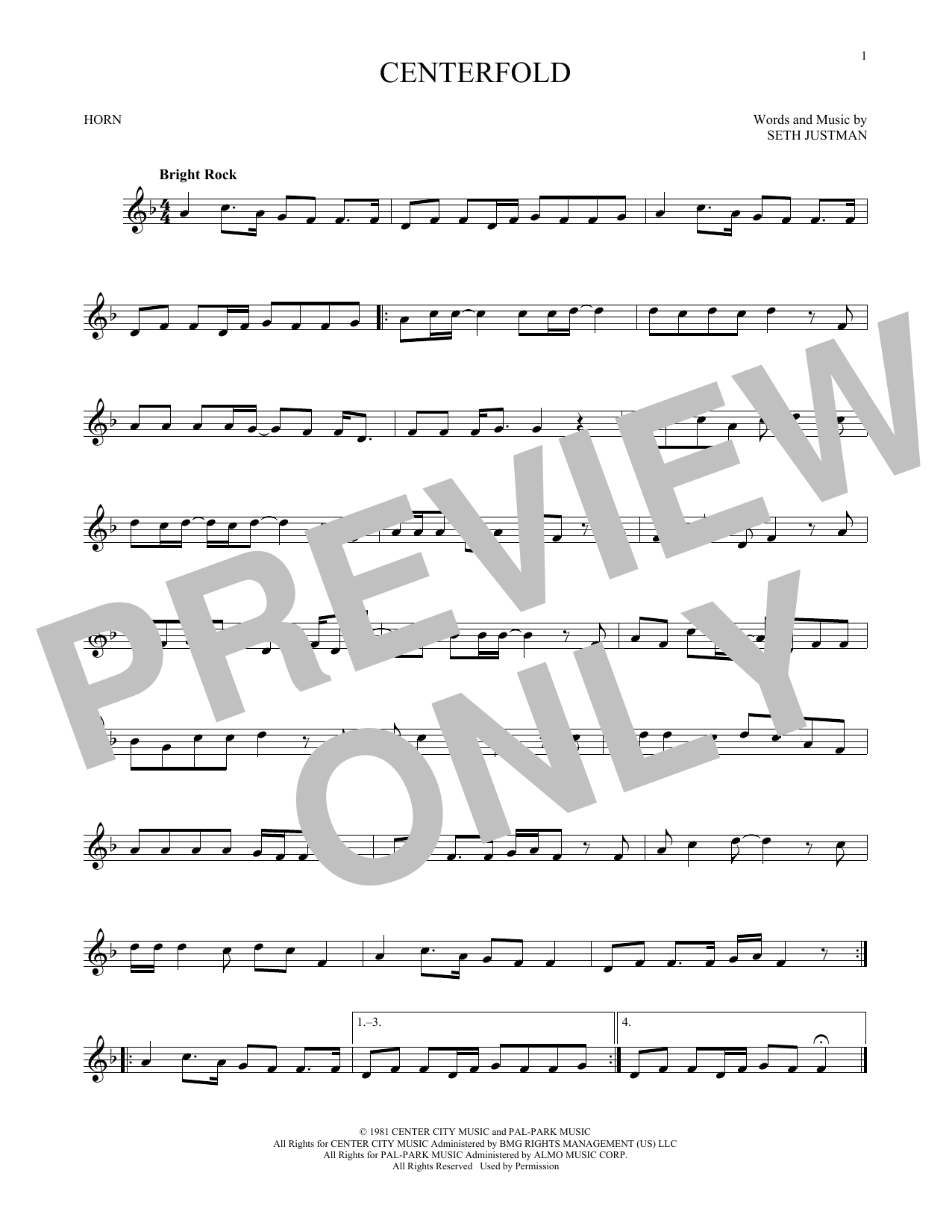 Centerfold (French Horn Solo)