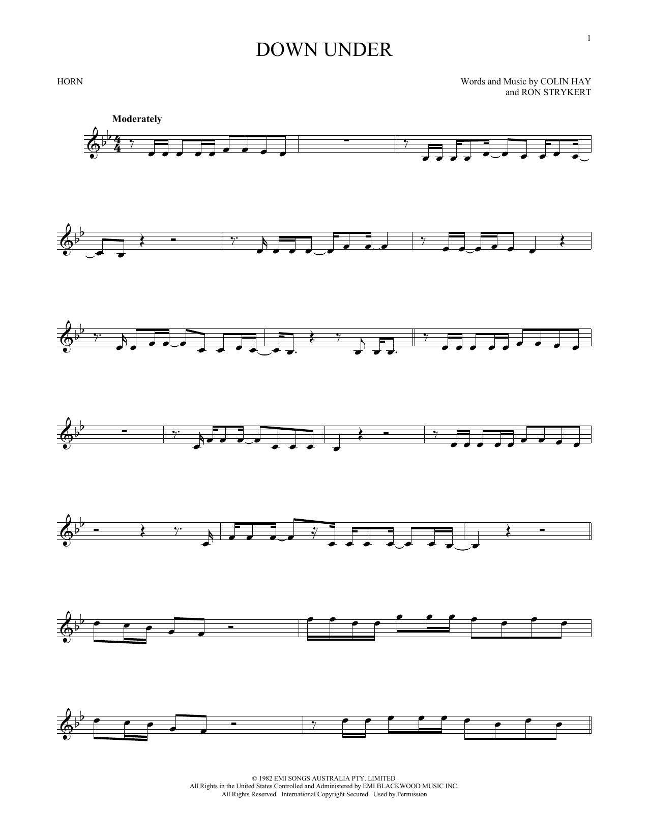 Down Under (French Horn Solo)