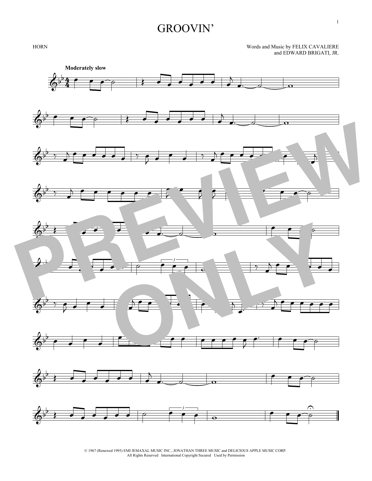 Groovin' (French Horn Solo)