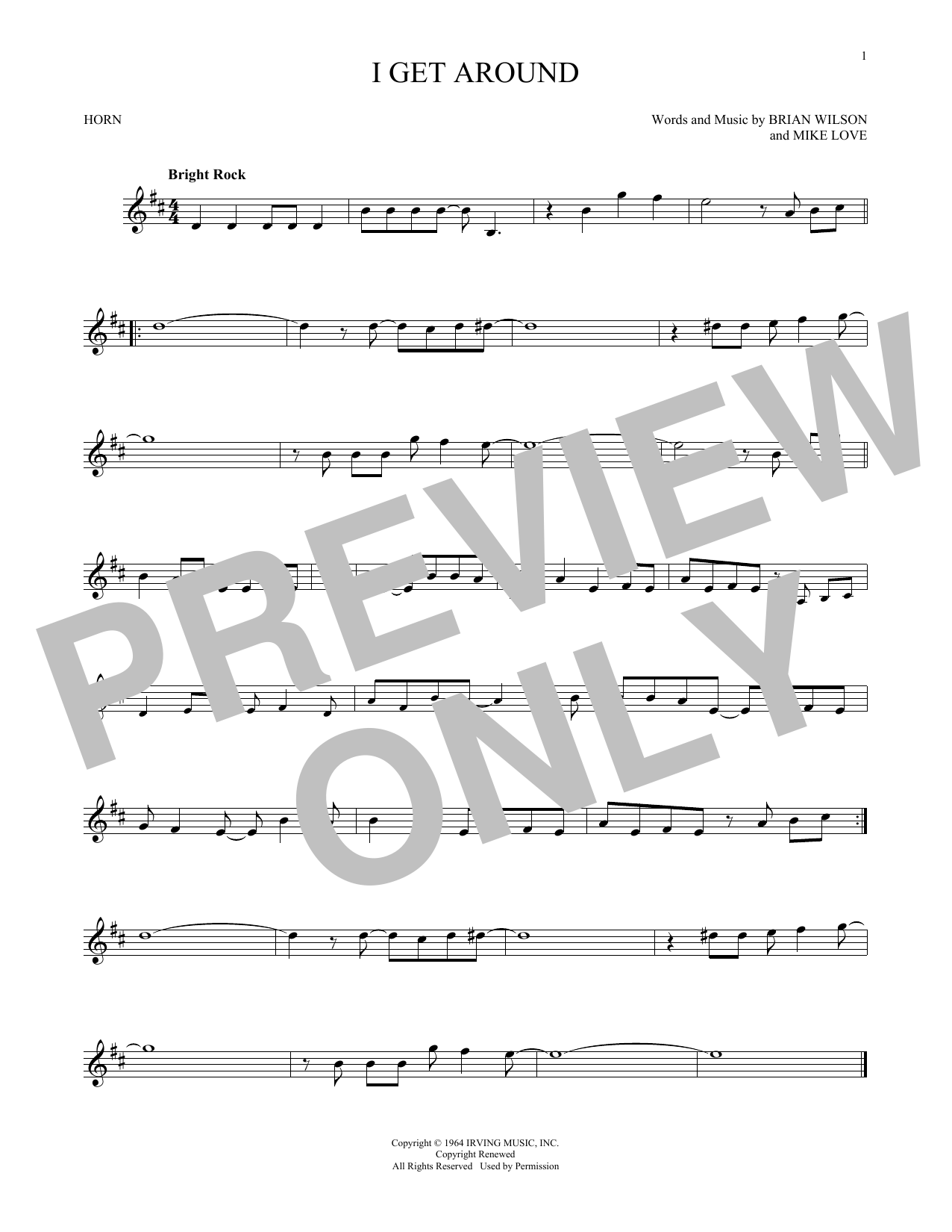 I Get Around (French Horn Solo)