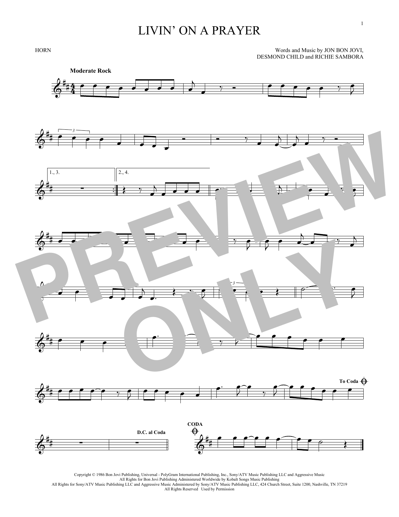Livin' On A Prayer (French Horn Solo)