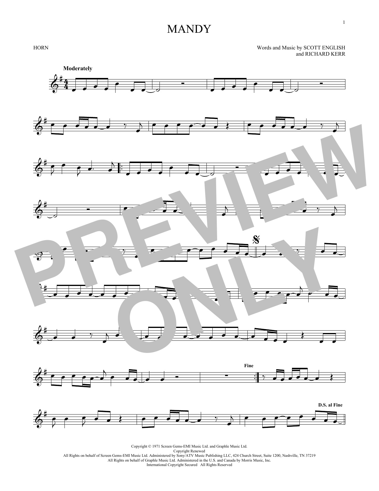 Mandy (French Horn Solo)